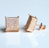 Bling Cubed Square Earrings