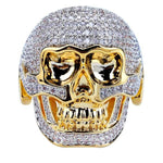 Diamond Scull Ring