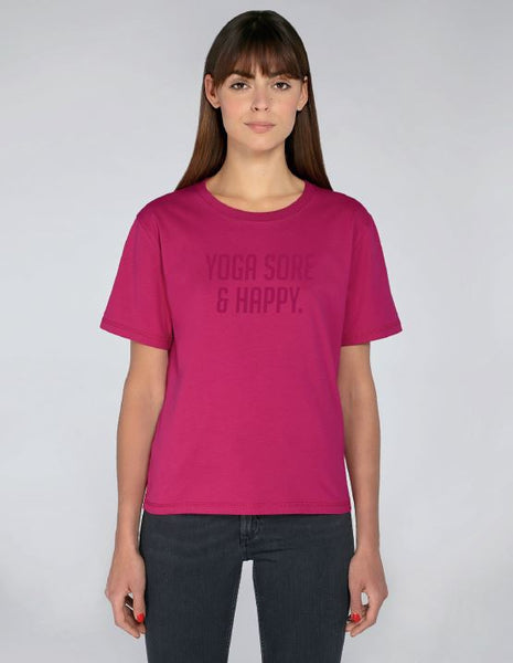 Ladies Pink Short Sleeve Cotton Top - TrulyRocks