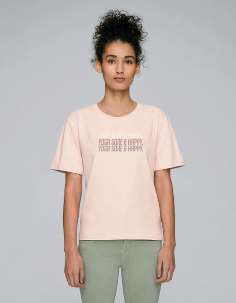 Women's Pastel Pink Short Sleeve Cotton T-shirt - TrulyRocks
