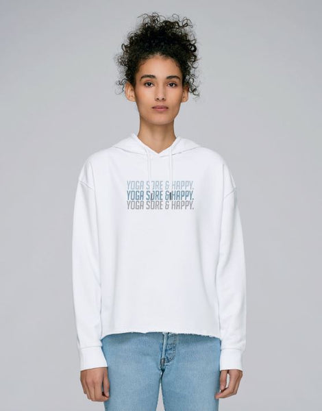Women's White Long Sleeve Hoodie Top - TrulyRocks