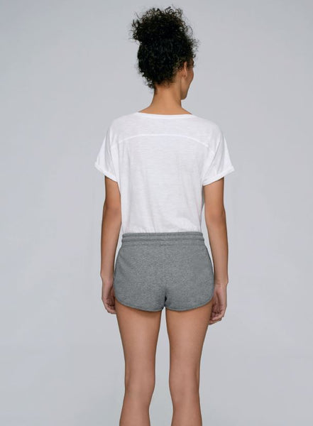 Women's Grey Cotton Jogger Shorts - TrulyRocks