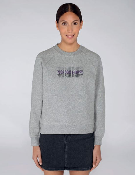 Women's Grey Long Sleeve Cotton Sweatshirt - TrulyRocks