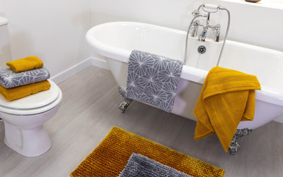 Mustard & Grey Bathroom Trend