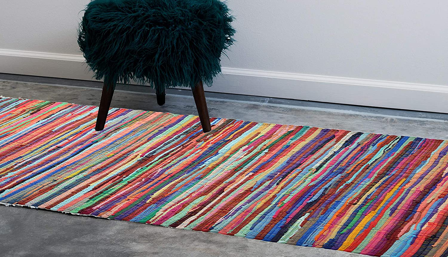 Allure Colourful Recycled Chindi Rag Rug