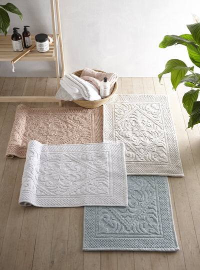 Country House Jacquard Cotton Bath Mat - Allure Bath Fashions