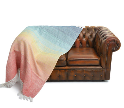Bahamas Ombre Rainbow Throw Blanket Multi-Coloured