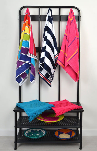 Nautical Stripe Beach Towels - Allure Bath Fashions