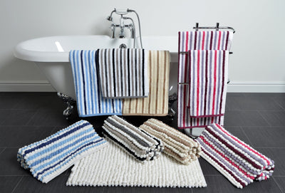 California Cotton Striped Bathroom Towels