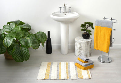 Capri Geometric Design Bath Mat