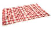 Christmas Check Bath Mat