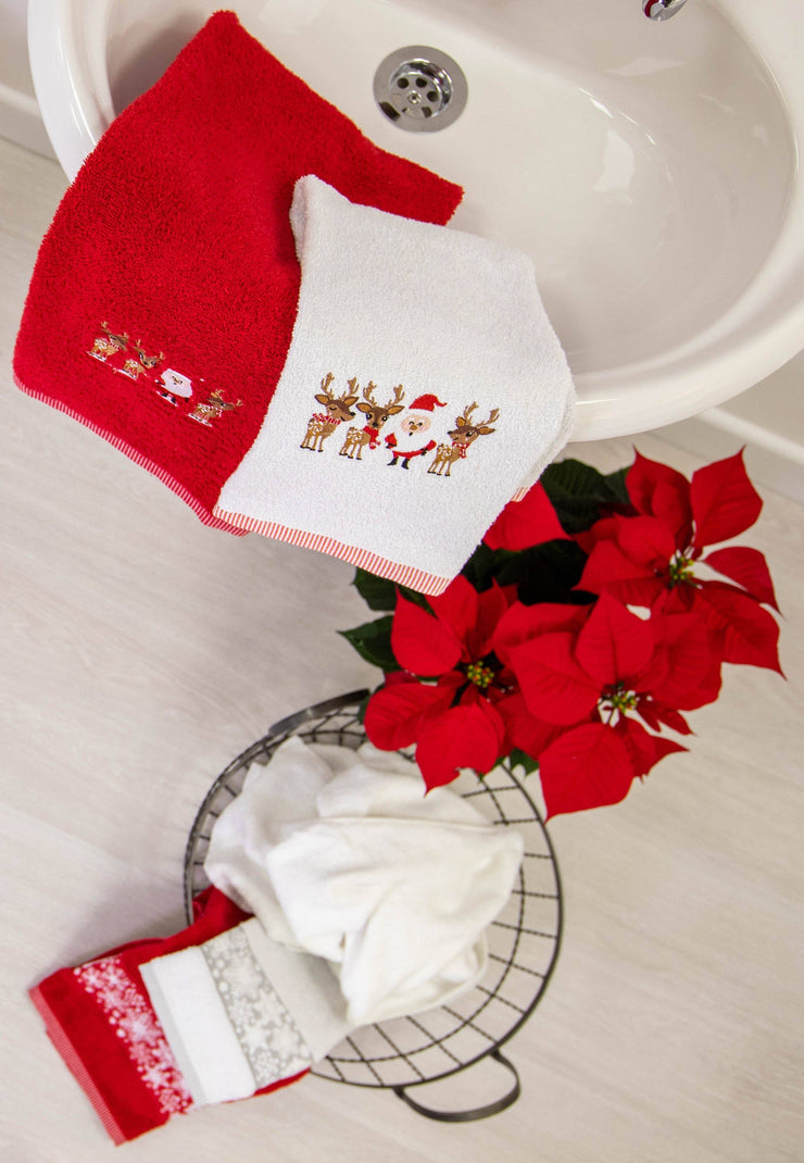 Christmas Two Pack Towels Guest Hand Tea Towel