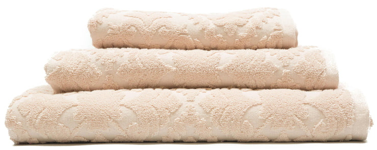 Country House Jacquard Sculpted Hand Woven Bath Towels Blush