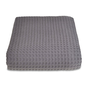 Hotel Sedona Waffle Cotton Throw Graphite Grey