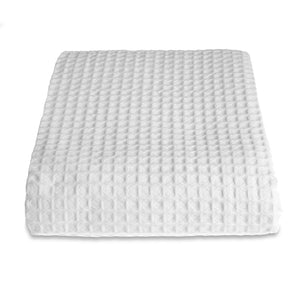 Hotel Sedona Waffle Cotton Throw White