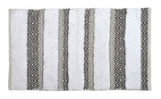 Capri Geometric Design Bath Mat Grey Monochrome