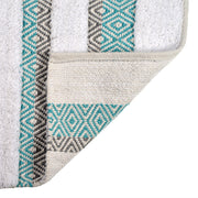 Capri Geometric Design Bath Mat Duckegg