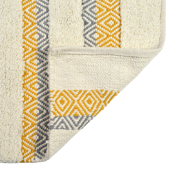 Capri Geometric Design Bath Mat Mustard Yellow
