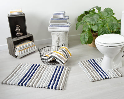 Merlin Stripe Pedestal Mat - Allure Bath Fashions