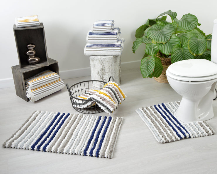Merlin Striped Pedestal Mat - Allure Bath Fashions