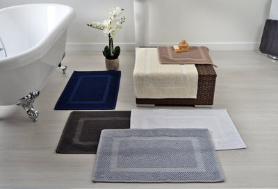 Hotel Essentials Absorbent 100% Cotton Bath Mat Rug