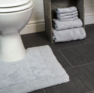 Elegance Cotton Reversible Thick Pedestal Toilet Mat