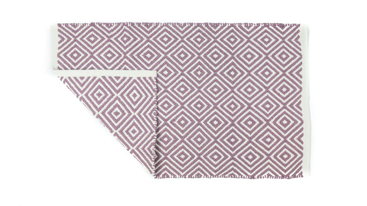 Diamond Jacquard Textured Bath Mat