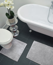 Supersoft Chenille Two Piece Bath and Pedestal Mat Set