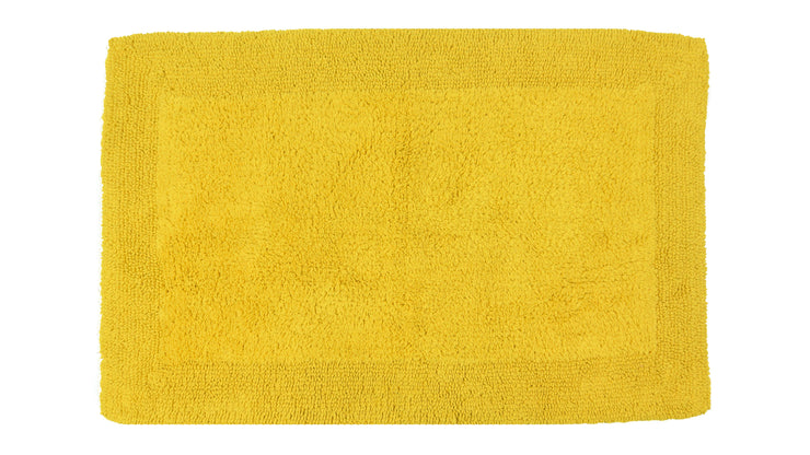 Elegance Cotton Reversible Large Bath Mat Mustard