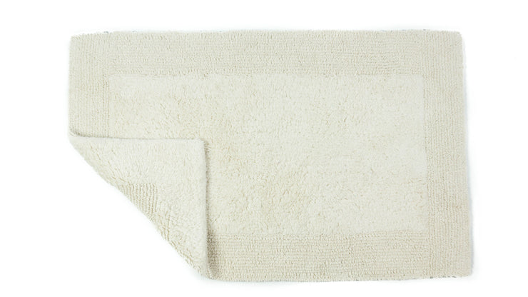 Elegance Cotton Reversible Large Bath Mat Cream