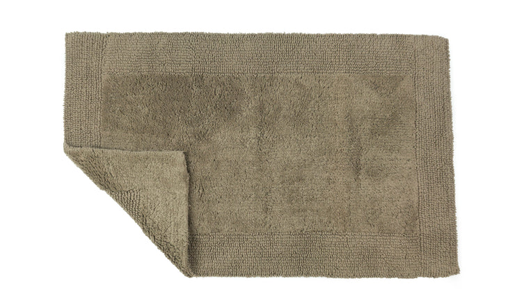 Elegance Cotton Reversible Large Bath Mat Mocha