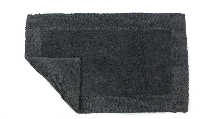 Elegance Cotton Reversible Large Bath Mat Charcoal Grey