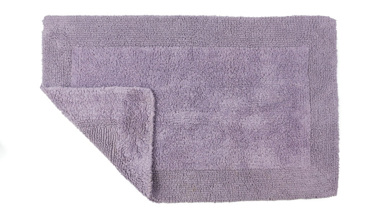 Elegance Cotton Reversible Large Bath Mat Heather Lilac