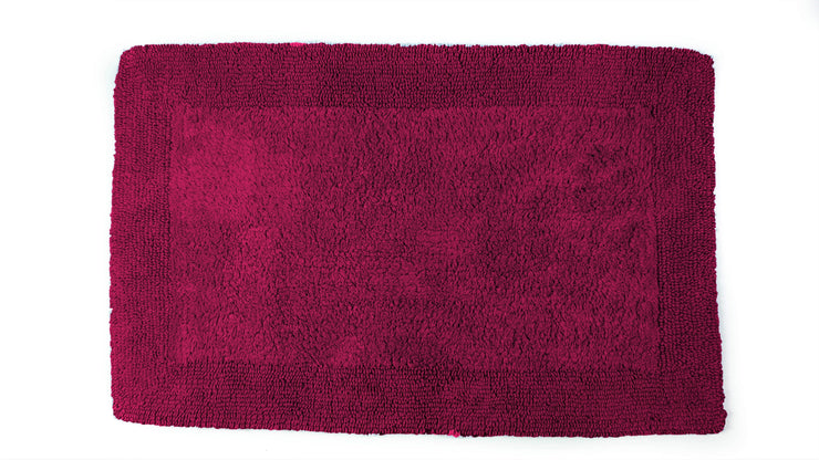 Elegance Cotton Reversible Large Bath Mat Beetroot