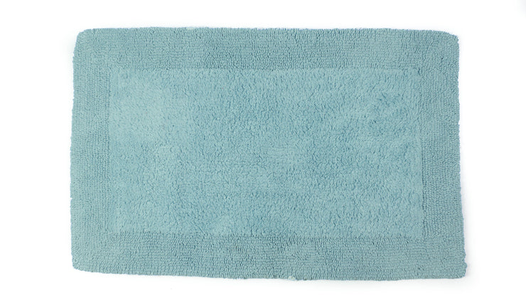 Elegance Cotton Reversible Large Bath Mat Duckegg