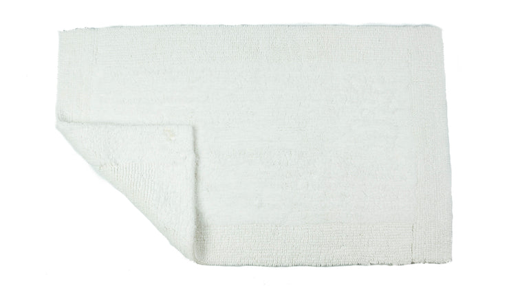 Elegance Cotton Reversible Large Bath Mat White