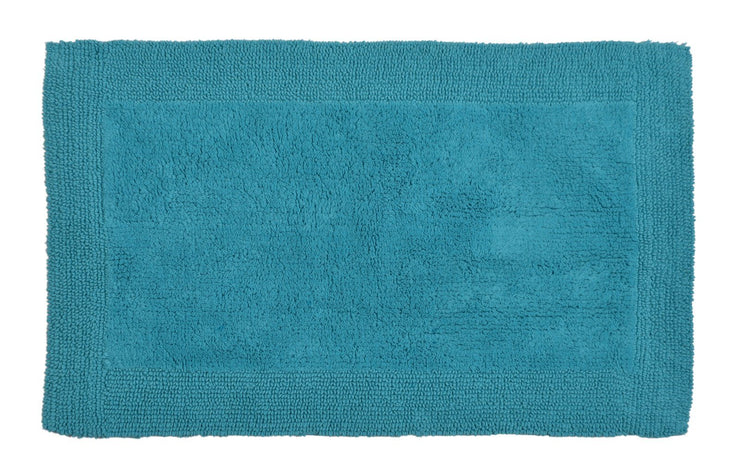 Elegance Cotton Reversible Large Bath Mat Turquoise
