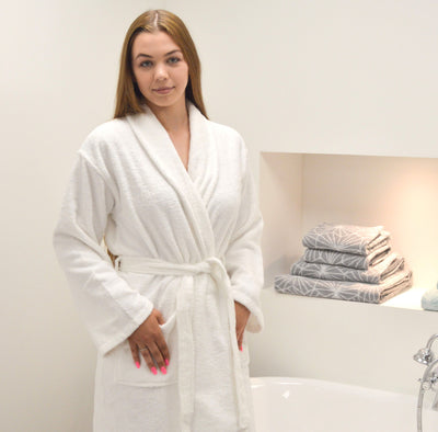 Hotel Essentials Unisex Bathrobe - Allure Bath Fashions