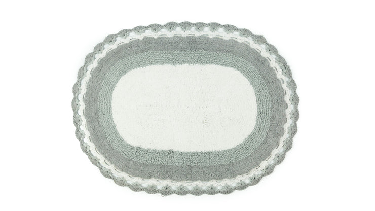 Lauren Lace Edge Vintage Cotton Bath Mat - Allure Bath Fashions