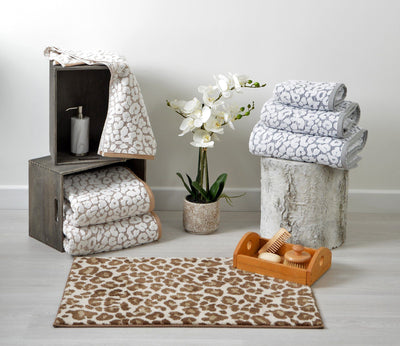 Leopard Print Bath Mat - Allure Bath Fashions