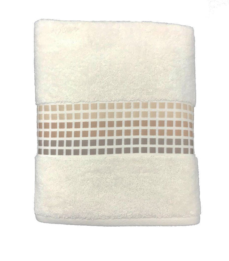 Mosaic Design Luxury Cotton Bath Towels