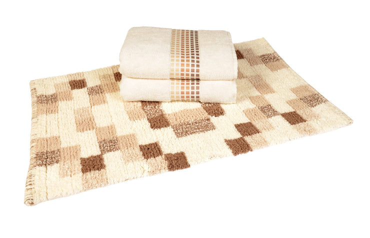 Mosaic Design Luxury Cotton Bath Towels - Allure Bath Fashions