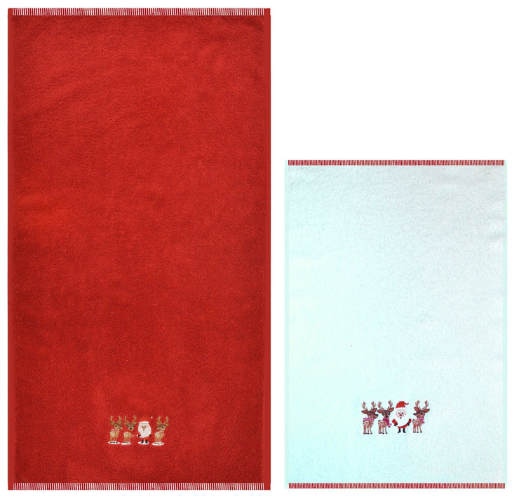 Christmas 2pc Towels - Allure Bath Fashions