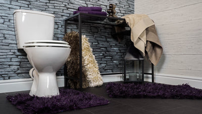 Sparkle Pedestal Mat with Shaggy Deep Pile - Allure Bath Fashions