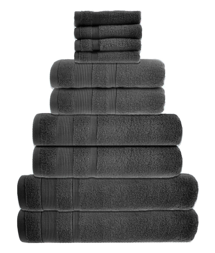 zero twist 10 pack towel bale in charcoal