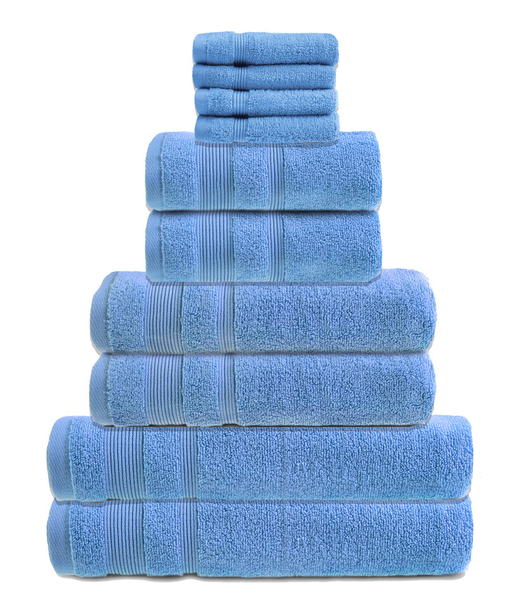 zero twist 10 pack towel bale in cornish blue