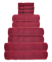 zero twist 10 pack towel bale in cranberry