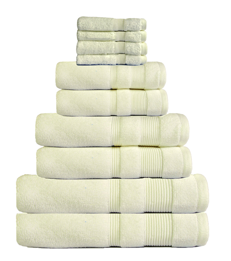 zero twist 10 pack towel bale in cream