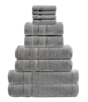 zero twist 10 pack towel bale in dove grey
