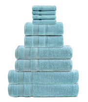 zero twist 10 pack towel bale in duck egg